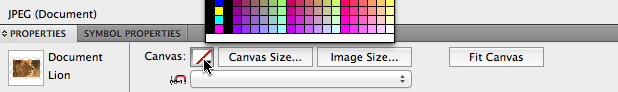 Bringing up the default colour picker