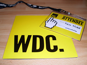 WDC programme and lanyard